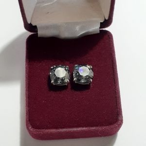 Origami Owl gray crystal stud earrings